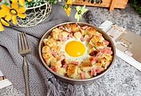 香肠吐司太阳蛋#520,美食撩动TA的心!#的做法