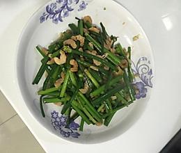 韭菜苔炒虾米的做法