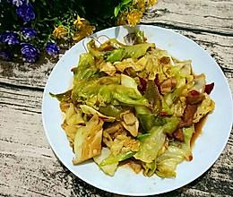 卷心菜炝肉的做法