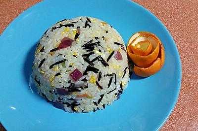 #超能量菰米试用之洋葱番茄炒菰米#