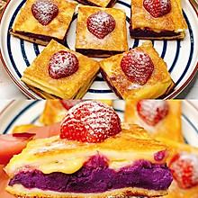 无需烤箱❗️一口爆浆的紫薯西多士