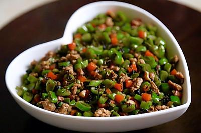 【橄榄菜肉沫四季豆】