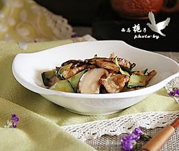 椎茸炒肉片的做法