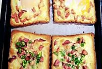 简易早餐-烤土司和自制香蕉奶昔(两人份)的做法