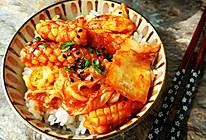 韩式酸辣鱿鱼拌饭#樱花味道#的做法