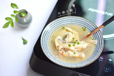 麻油九肚鱼汤-月子好补钙#非常规创意吃鱼法#