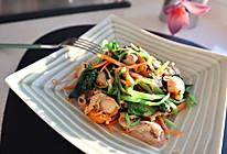 扇贝肉拌菠菜的做法