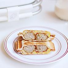 元气早餐 | 10分钟Get肉丸蟹柳蛋饼三明治