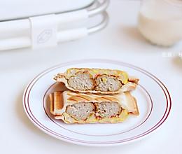 元气早餐 | 10分钟Get肉丸蟹柳蛋饼三明治的做法