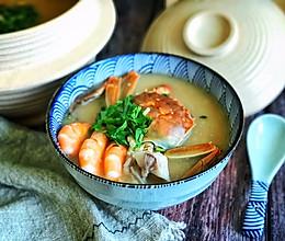 #肉食者联盟#砂锅海鲜粥的做法