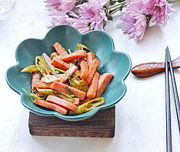 #今天吃什么#午餐肉炒腌辣椒的做法