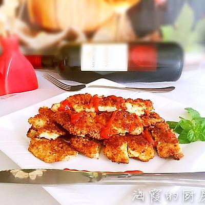 香煎鸡排(附面包糠的做法)