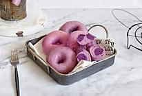 双重紫薯贝果的做法