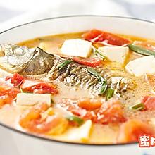 番茄豆腐鲫鱼汤
