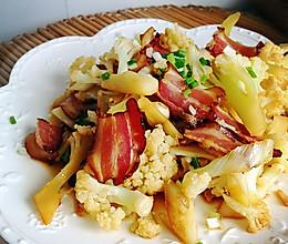 小炒腊肉花菜的做法
