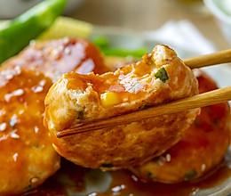 糖醋鸡肉蔬菜饼|酸甜多汁的做法