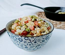 蒜火腊肠青菜饭的做法
