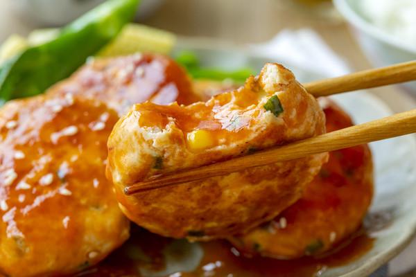 糖醋鸡肉蔬菜饼|酸甜多汁