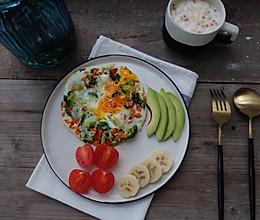 健康减脂早餐—低碳杂蔬烘蛋的做法