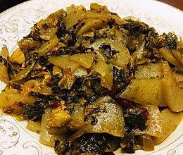 开胃菜酸菜炒魔芋的做法