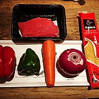 黑椒牛肉意大利面的做法图解1