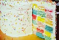 彩虹棋盘格蛋糕的做法