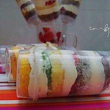 五彩水果推推乐蛋糕