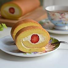 戚风奶油蛋糕卷 #精品菜挑战赛#