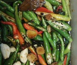 腌辣椒(长线椒)的做法
