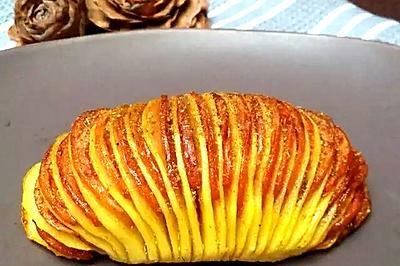 香肠孜然烤风琴土豆