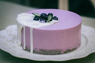 紫薯酸奶慕斯蛋糕