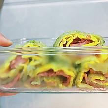 蔬菜煎饼卷火腿