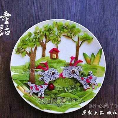 创意水果拼盘——童话