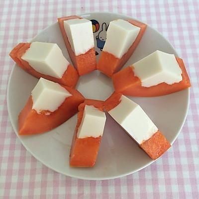 木瓜椰奶冻——雄鷄標™椰浆试用菜谱