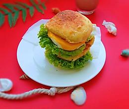 #换着花样吃早餐#家庭版吉士蛋堡的做法