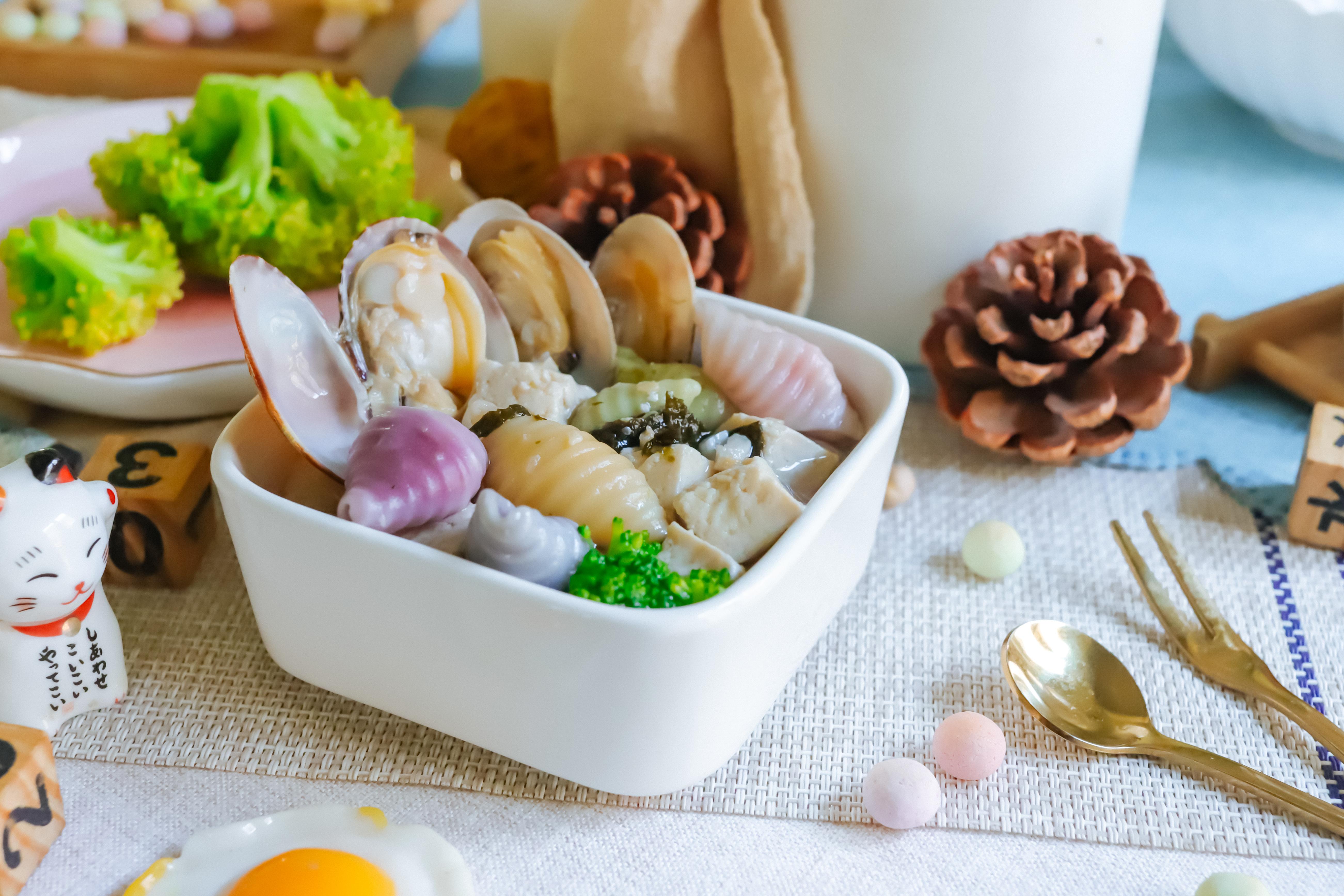 蛤蜊海鲜汤面~