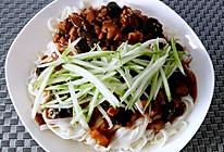 香菇肉丁打卤面的做法