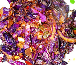 清炒酸辣紫甘蓝的做法