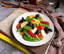 #精品菜谱挑战赛#春的色彩 清炒彩椒荷兰豆的做法