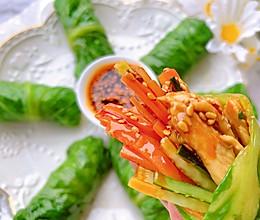 减脂必备!低卡低脂的生菜鸡肉卷的做法
