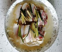 清蒸咸肉金针菇的做法