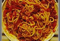 芝士焗番茄肉酱意面的做法