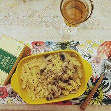 #奈特兰草饲营养美味#白汁口蘑意面