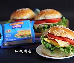 芝士火腿汉堡包的做法