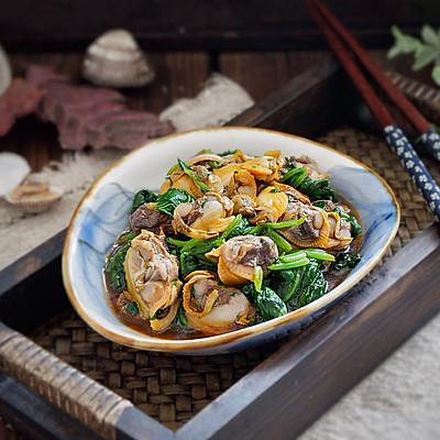 菠菜拌毛蛤蜊#松下多面美味#