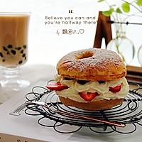 甜甜圈水果面包#有颜值的实力派#