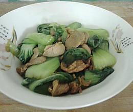 小油菜炒肉的做法