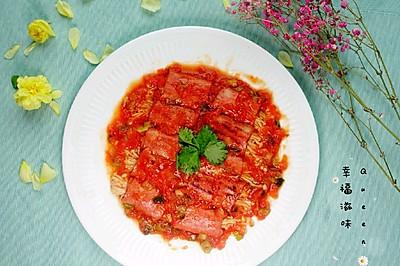 番茄金针菇培根卷