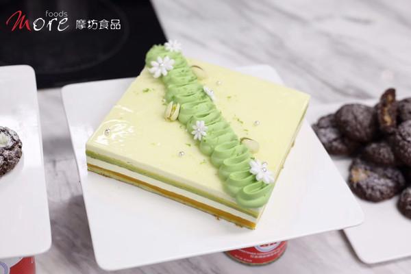 百香果椰子开心果蛋糕