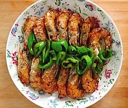 青椒炒虾干的做法